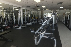 2800 square feet of free weight area
